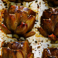 Amazing Roasted Artichokes