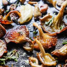 Pan Fried Oyster Mushrooms